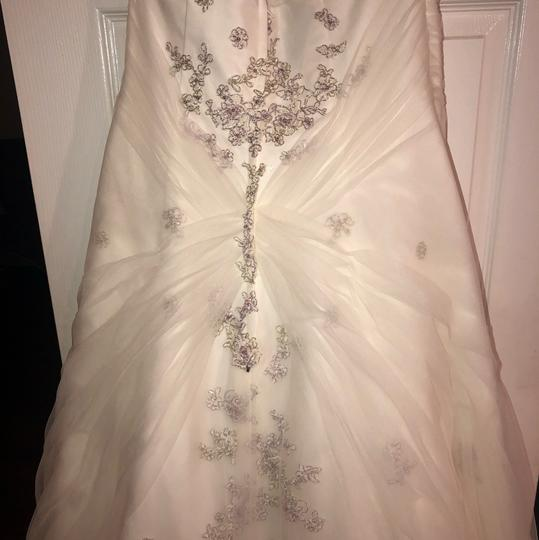 Monique Luo Ivory Rayon Polyester Cotton Formal Wedding Dress Size 14 (L) Image 6