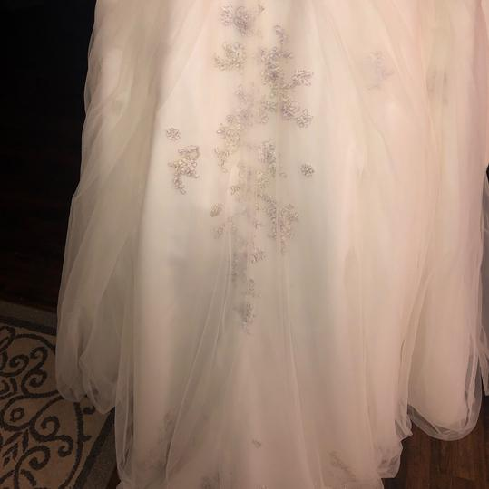 Monique Luo Ivory Rayon Polyester Cotton Formal Wedding Dress Size 14 (L) Image 7