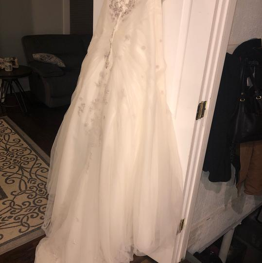 Monique Luo Ivory Rayon Polyester Cotton Formal Wedding Dress Size 14 (L) Image 8