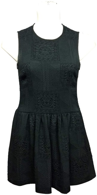 Preload https://img-static.tradesy.com/item/24920347/zara-black-woman-sleeveless-embossed-poly-m-short-night-out-dress-size-8-m-0-1-650-650.jpg