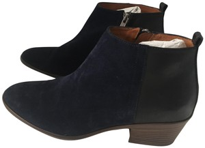 Madewell Suede Ankle Dark Blue Boots