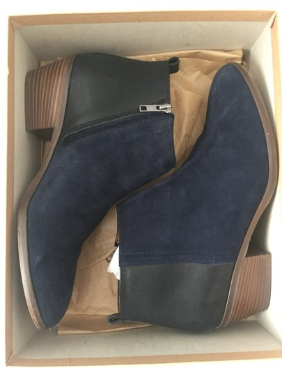 Madewell Suede Ankle Dark Blue Boots Image 1