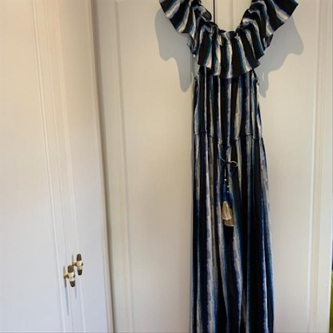 blue print Maxi Dress by Figue Image 8