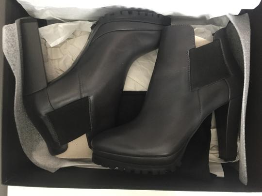 AllSaints Leather Ankle Grey Boots Image 1