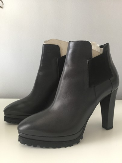 AllSaints Leather Ankle Grey Boots Image 2