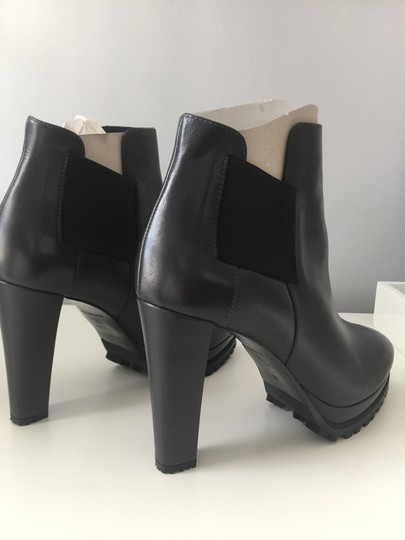 AllSaints Leather Ankle Grey Boots Image 3