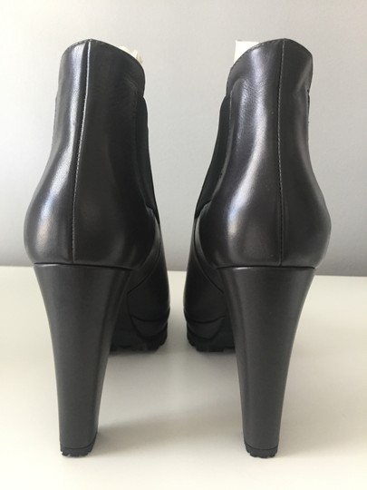 AllSaints Leather Ankle Grey Boots Image 4