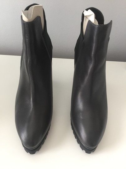 AllSaints Leather Ankle Grey Boots Image 5