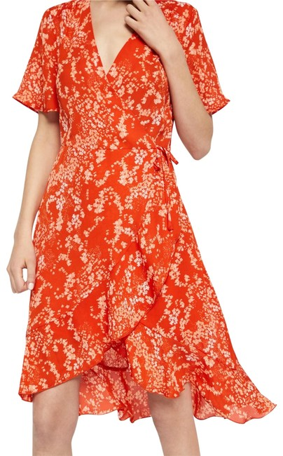 soaked in luxury short dress orange Summer Lanelle Wrap on Tradesy Image 0