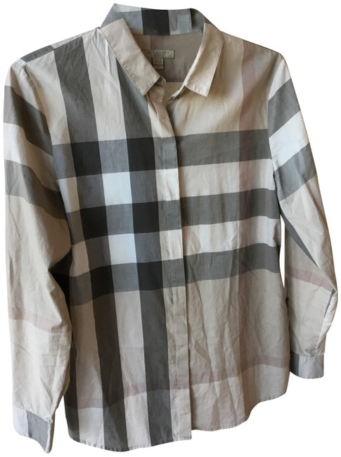 Preload https://img-static.tradesy.com/item/24920445/burberry-brit-multicolor-nude-sand-color-button-down-top-size-8-m-0-1-650-650.jpg