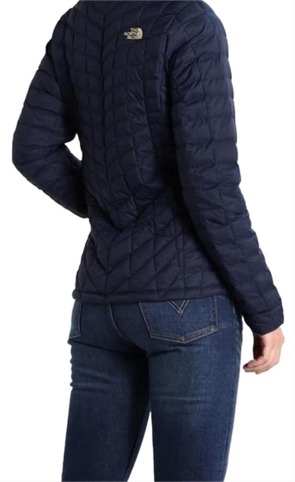 6eb65b088c4b The North Face The North Face Women Thermoball Insulated Full ZIP Jacket In  Navy Small Image ...