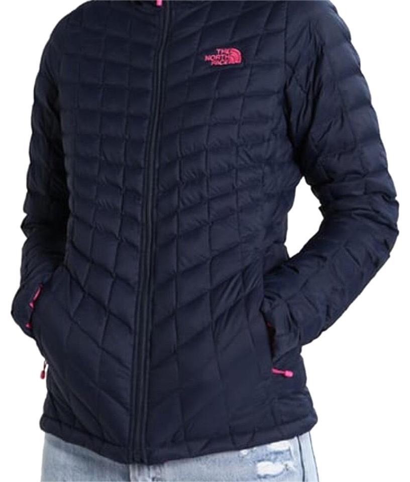 4c73cf34a The North Face Urban Navy Women Thermoball Insulated Full Zip White Logo  Activewear Outerwear Size 8 (M)