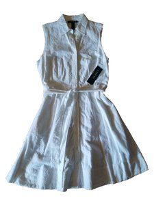Lauren Ralph Lauren short dress White Shirtdress Eyelet Belted Button-down Cotton on Tradesy