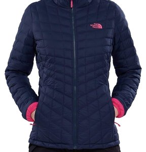 The North Face The North Face Women Thermoball Insulated Full Zip Matte  White Logo 2f7b1ca2b059