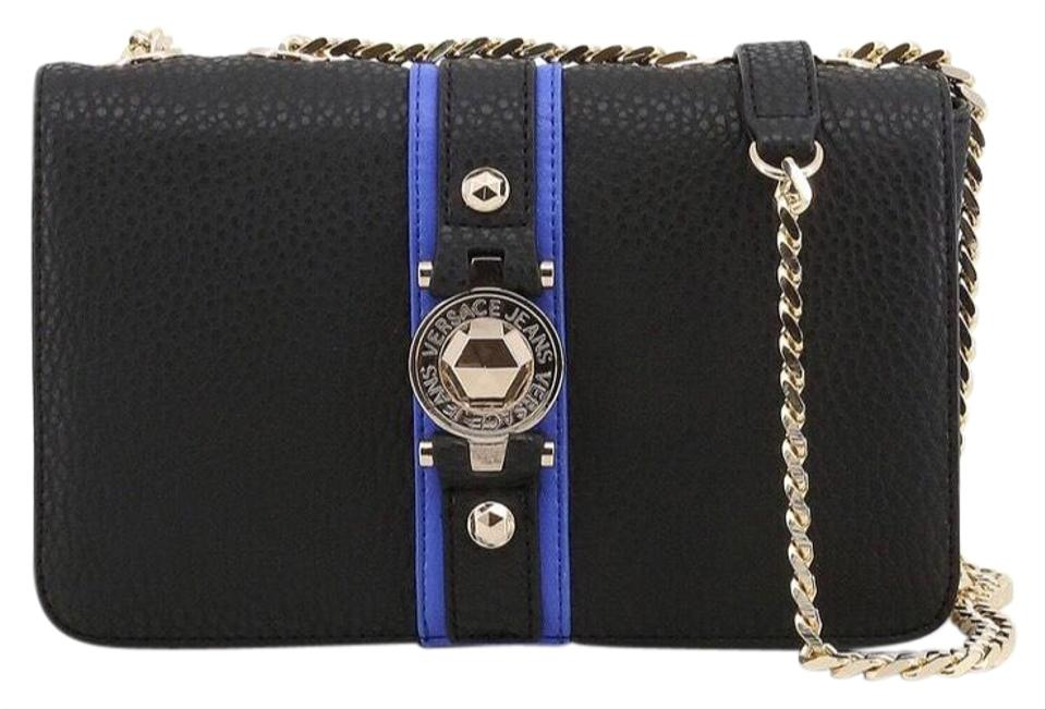 e8f2b439bb Versace Jeans Collection Black Synthetic Leather Cross Body Bag ...