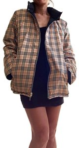 Burberry Vintage Check Reversible Puffer/Down Unisex Motorcycle Jacket