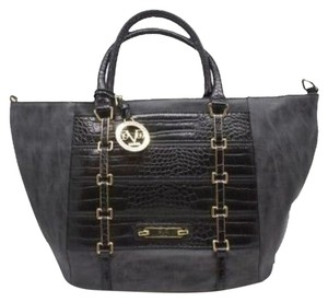 Versace 19.69 Italia Black and Grey Leather Tote - Tradesy dc7b76d2d1195