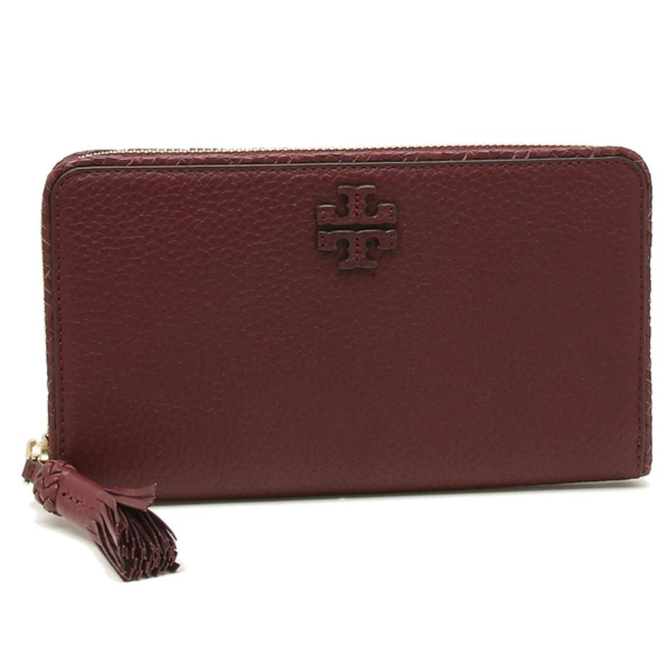 459a9c9c6ba Tory Burch Burgundy New Zip Continental Leather Wallet - Tradesy