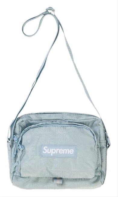 Supreme Box Limited Edition Logo Cross Body Waist Tiffany Blue Fabric Shoulder Bag Supreme Box Limited Edition Logo Cross Body Waist Tiffany Blue Fabric Shoulder Bag Image 1