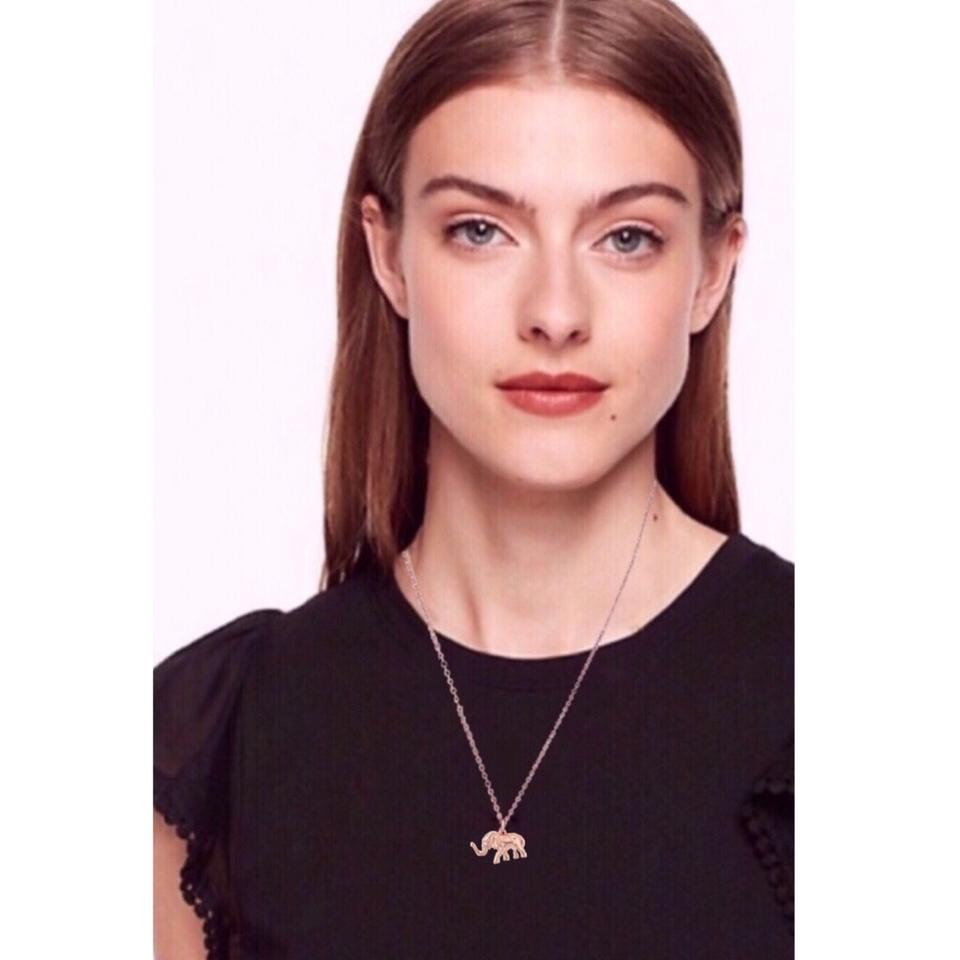 07b45d22d9728 Kate Spade Rose Gold Things We Love Elephant Necklace 12% off retail