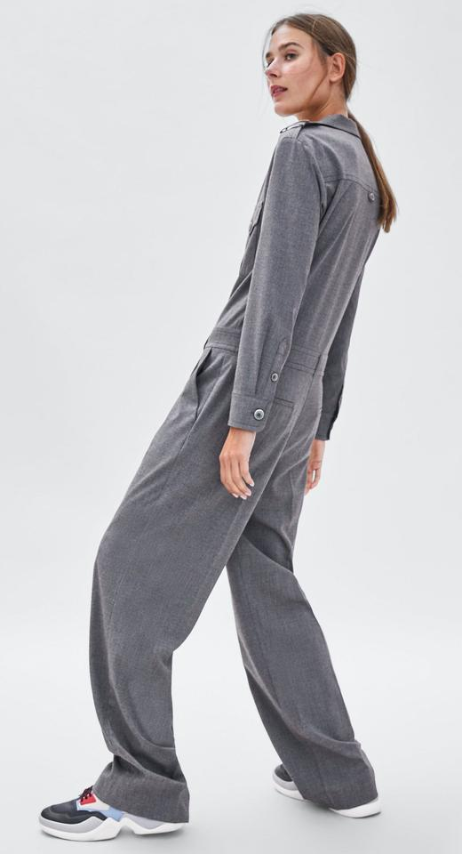 8ead9b51c21 Zara Gray Long Belted with Pockets Romper Jumpsuit - Tradesy