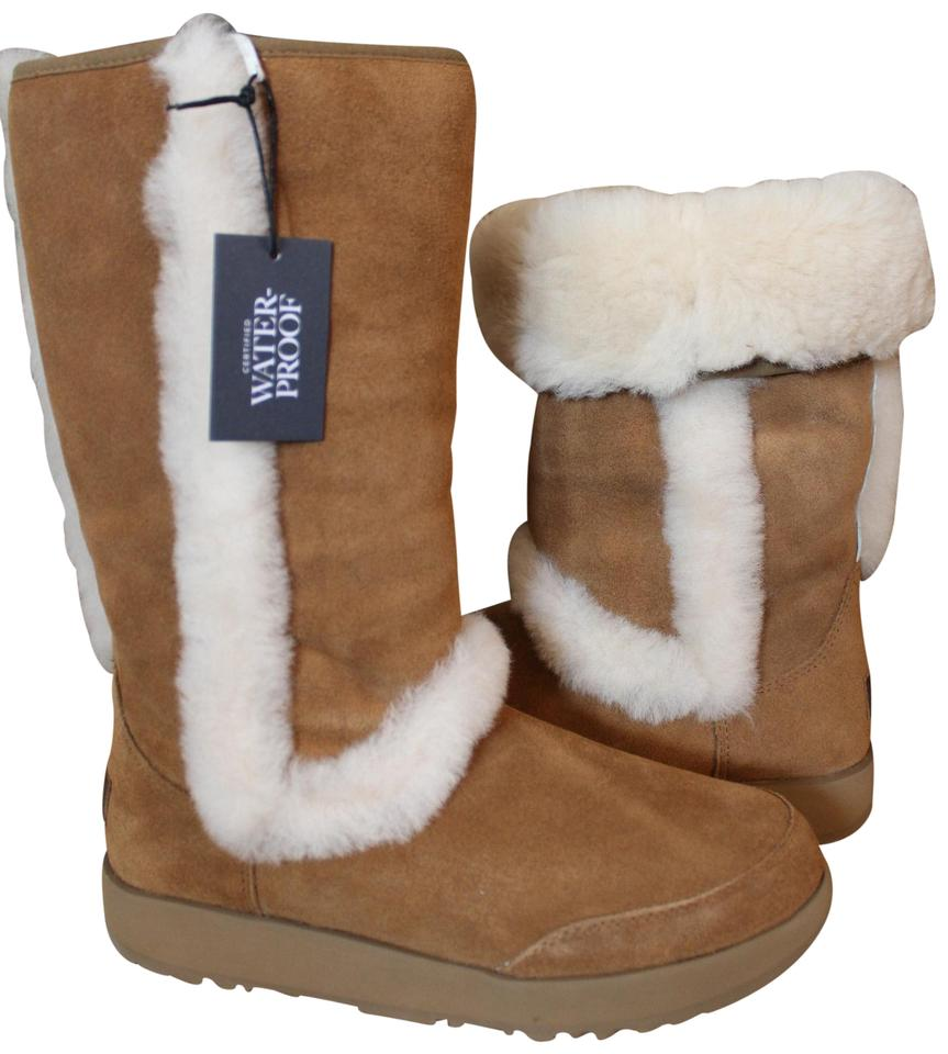 c63b4712aee UGG Australia Chestnut Sundance Tall Suede Shearling Boots/Booties Size US  9 Regular (M, B) 19% off retail