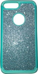 N/A iPhone 8 Plus/7 plus turquoise glitter armor case