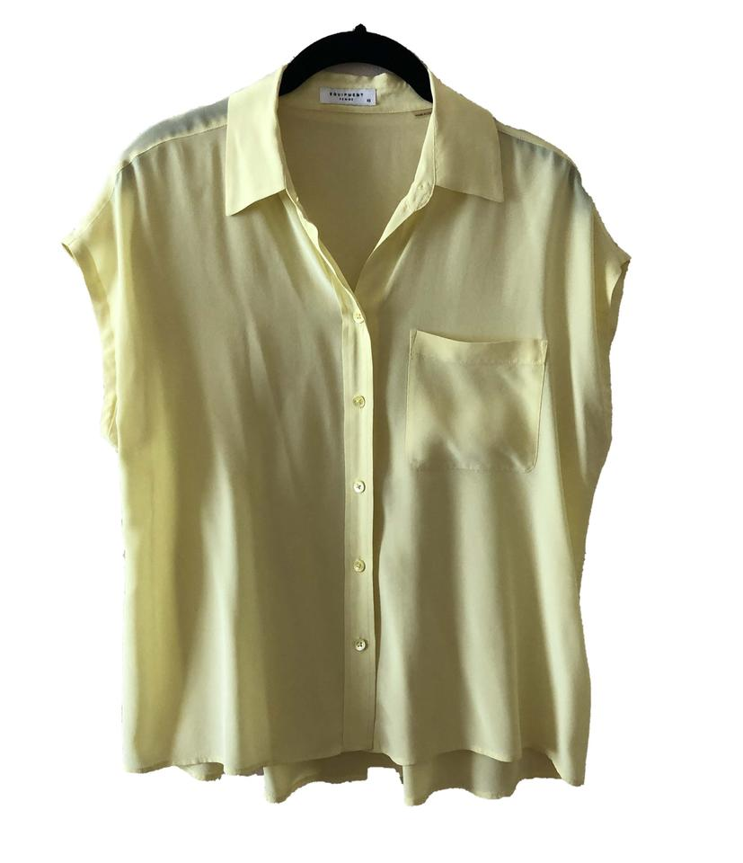 1c5d6ac979708 Equipment Yellow Signature Silk Button-down Top Size 0 (XS) - Tradesy