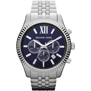 Michael Kors $275 NWT Men's Silver-Tone Lexington Watch MK8280