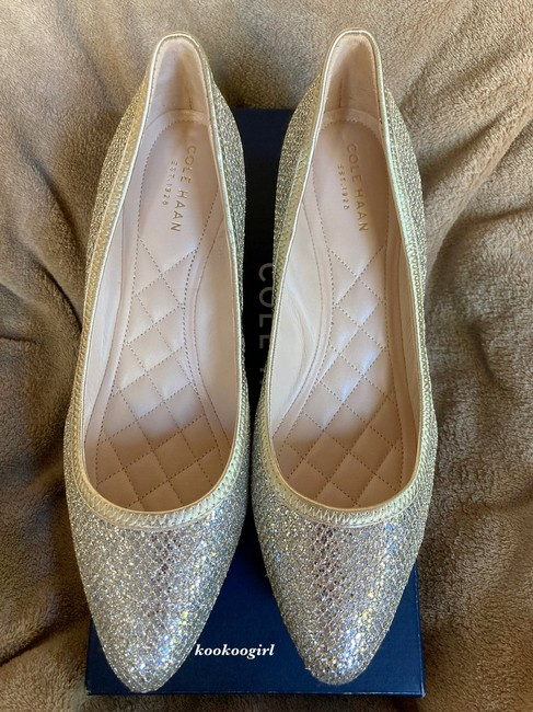 Item - Gold-silver Tali Luxe Gold Mesh Silver Glitter 40mm Wedges Size US 7.5 Regular (M, B)
