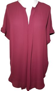Max Studio Polyester Top Burgundy