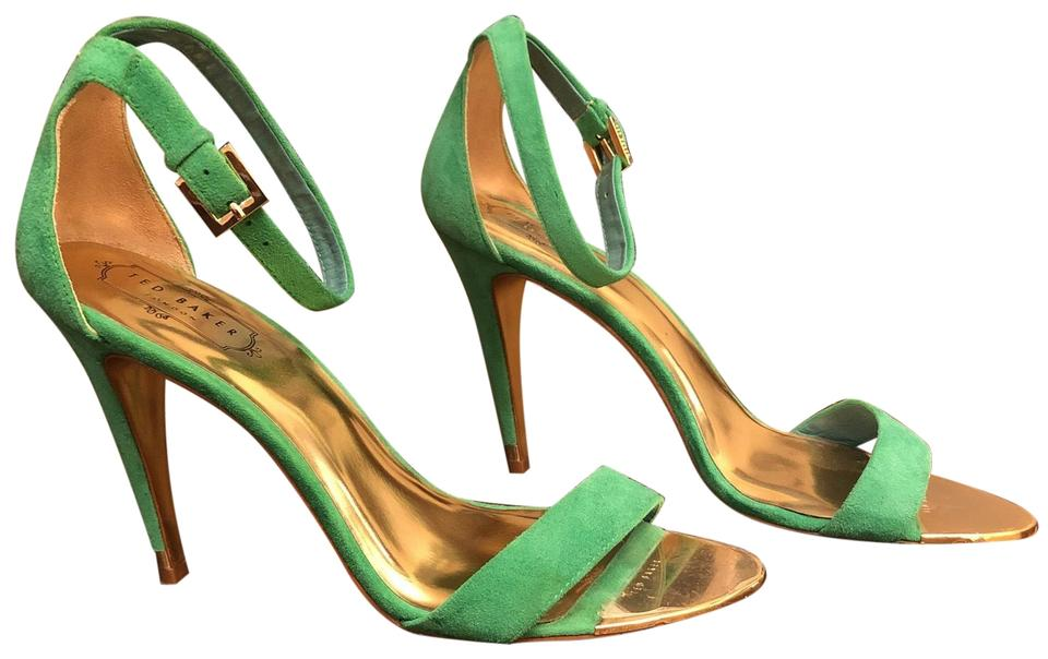 9d8f9d3f4f31 Ted Baker Green Gold Toe and Gold Sole Formal Shoes Size EU 40 ...