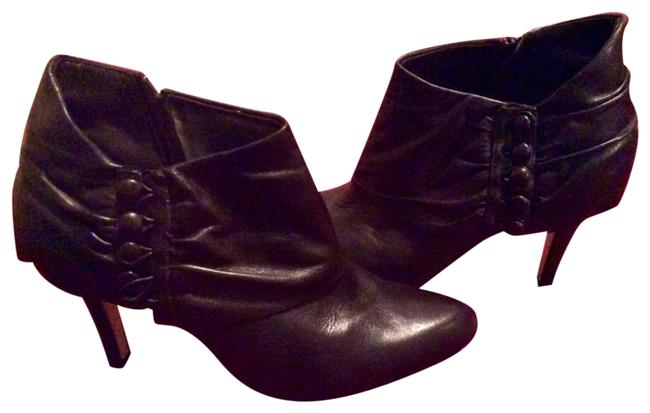 Saks Fifth Avenue Black Leather Ankle Boots/Booties Size US 9.5 Regular (M, B) Saks Fifth Avenue Black Leather Ankle Boots/Booties Size US 9.5 Regular (M, B) Image 1