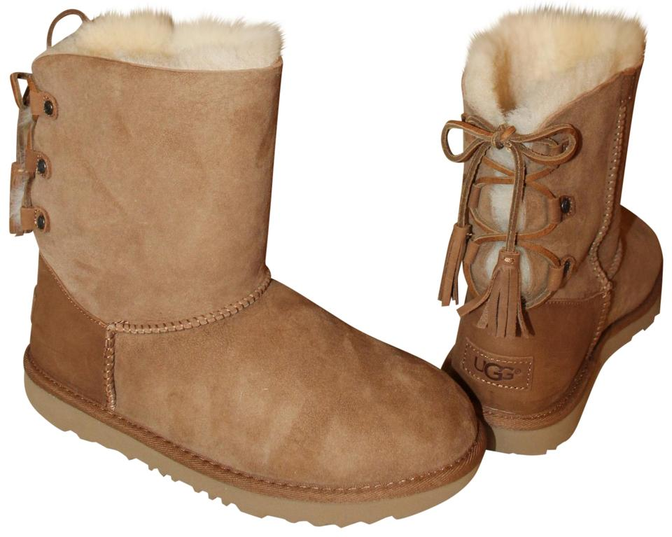 4abb84626d5 UGG Australia Brown Kristabelle Lace Up Suede Shearling Boots/Booties Size  US 10 Regular (M, B) 25% off retail