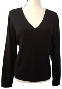 Kate Hill Essentials V-neck Nylon Comfortable Top Navy