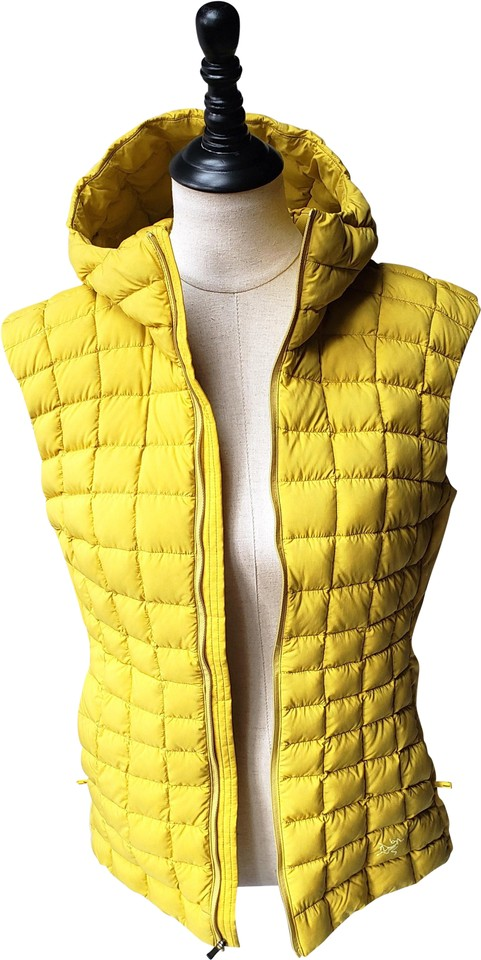 d68154f68dc Arc'teryx Yellow Narin Hooded Down Olivine Women's Large Vest Size ...