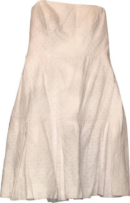 Item - White Strapless Short Casual Dress Size 8 (M)