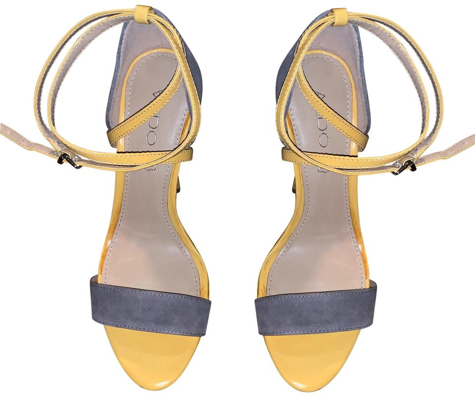 6a62099cf8a ALDO Yellow and Gray Sandals Size US 8 Regular (M