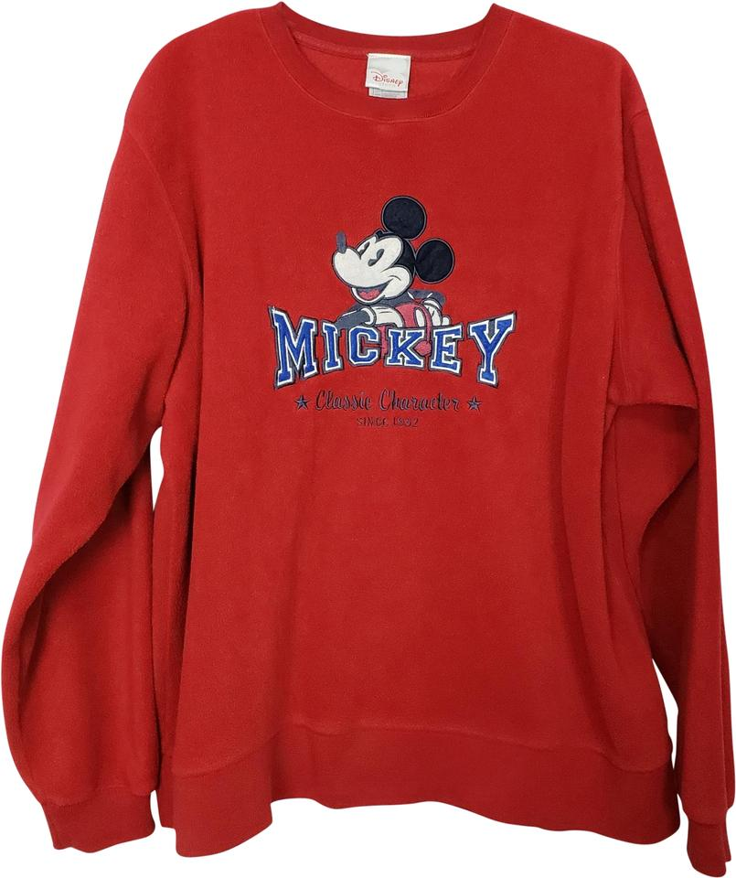 9340bbc7ebab Disney Red Mickey Mouse Soft Sweatshirt Hoodie Size 12 (L) - Tradesy