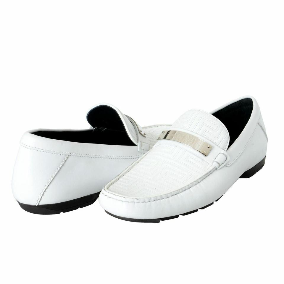 bb3b5e27 Versace White Gianni Men's Moccasins Loafers Slip On Flats Size US 6.5  Regular (M, B) 53% off retail