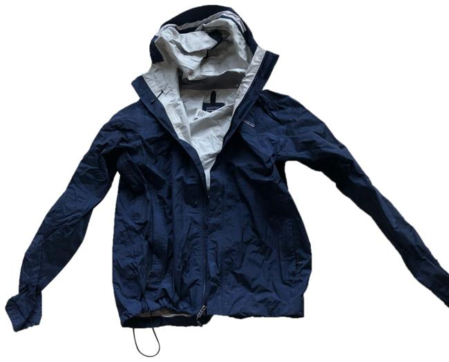 Item - Navy Lightweight Men's Medium Zipup with Hood Jacket Size 8 (M)