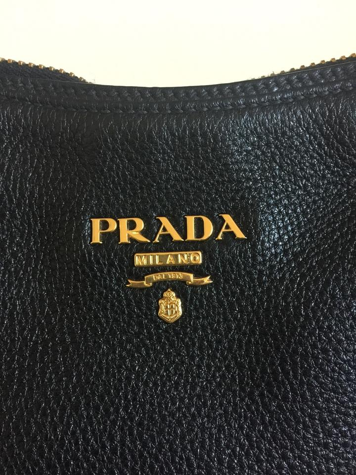 Prada Sacca 2 Maccini with Strap Black Leather Hobo Bag - Tradesy 80220b86cdb