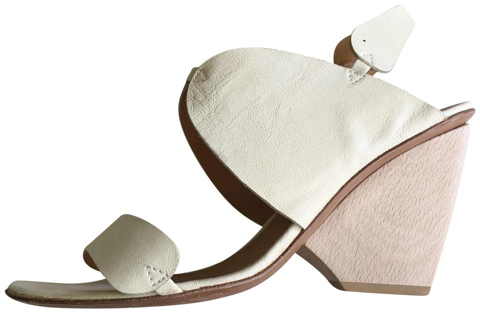3f90213325a Coclico Butter Cream-colored Leather with Wood Wedges Size EU 37.5 ...