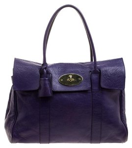 0e72ddc88987 Mulberry Leather Satchel in Purple