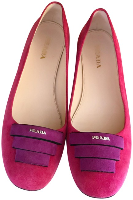 Item - Pink and Purple Suede Ballet Slippers / Flats Size EU 40 (Approx. US 10) Regular (M, B)