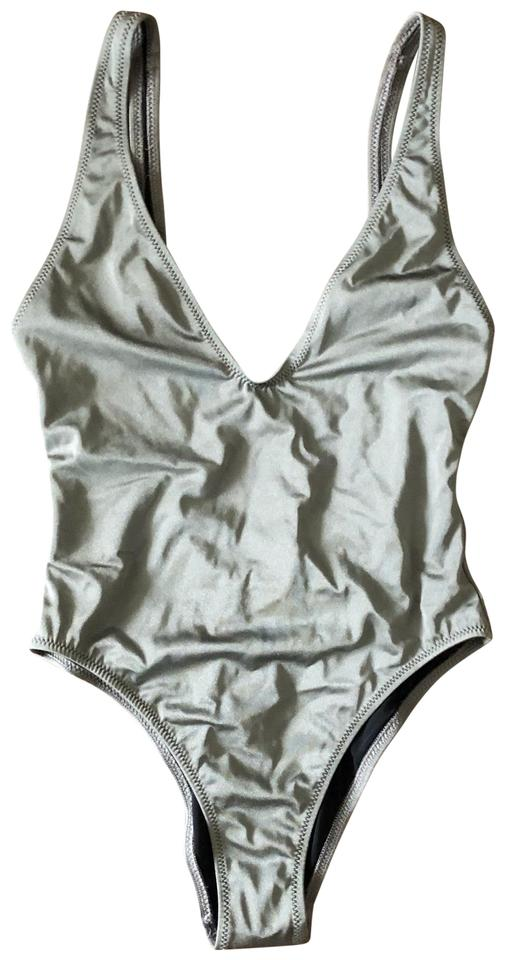 06595c0054 Solid & Striped Gray Michelle One-piece Bathing Suit Size 4 (S ...