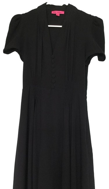 Item - Black Dusty Pink Trim Mid-length Night Out Dress Size 4 (S)