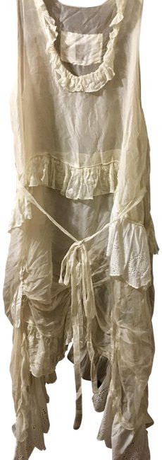 Item - Ivory Beige Silk Mid-length Night Out Dress Size OS (one size)
