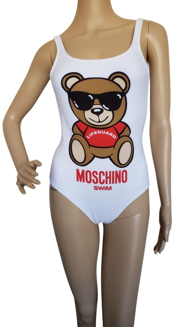 1caa51b4 Moschino Animal Print Logo Floral Swimsuit Toy Bear T Shirt Multicolor  Image 0 ...