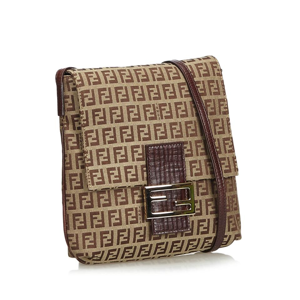 Fendi Zucchino Jacquard Crossbody Brown Blend Shoulder Bag - Tradesy 886b189a7b055